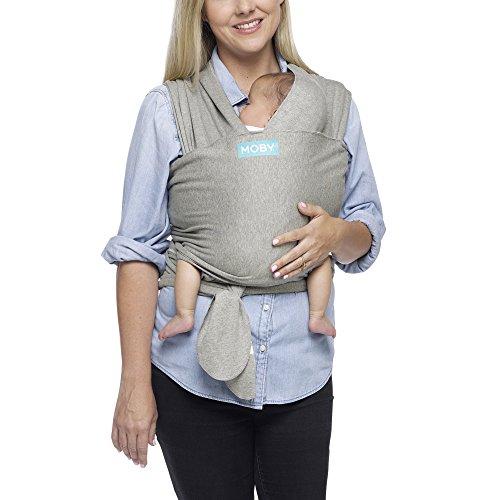 Moby Wrap Classic Baby Sling Elastic Grey 843390008283 Ebay