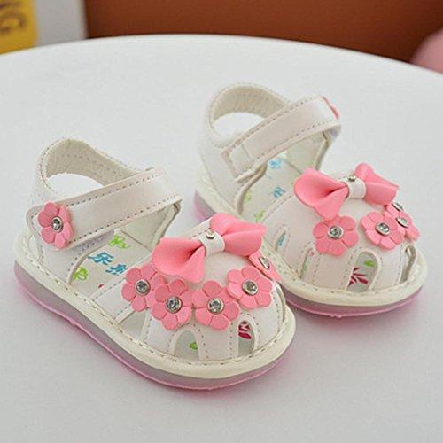 Culater® I pattini di fiore della ragazza del Bowknot dei bambini calza i pattini singoli della principessa Bianca