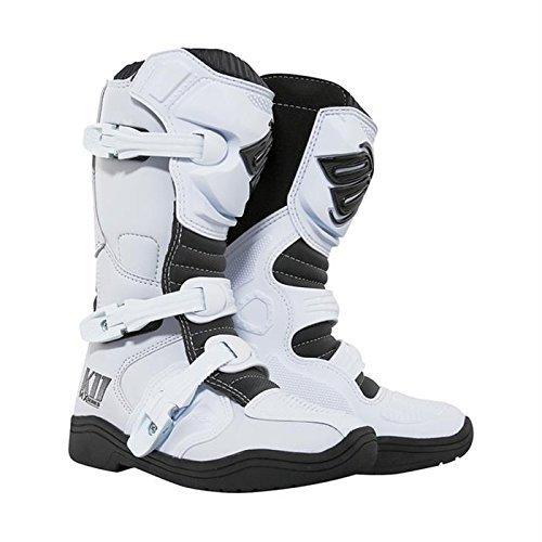 Shot 2017 Kinder Motocross Stiefel - K11 - weiß: Größe Kinderstiefel: 34 / 3 US