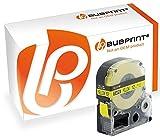 Bubprint Schriftband kompatibel für Epson SC12YW für LabelWorks LW-1000P LW-300 LW-400 LW-600P LW-700 LW-900P LW-K400 LW-Z700FK Schwarz auf Gelb12MM