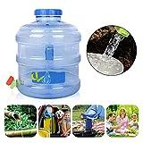didatecar Secchio per Acqua Potabile All'aperto Portatile da 12 Litri Contenitore dell'Acqua Durevole con Maniglia E Rubinetto, Materiale per PC per Uso Alimentare