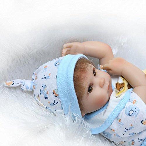 ZIYIUI Reborn Baby Doll Vinyle Souple en Silicone 16 Pouces 40cm Le...