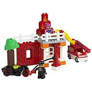 ColorBaby -  Juego de construcción Blocks Estación bomberos, 47 piezas (42884)