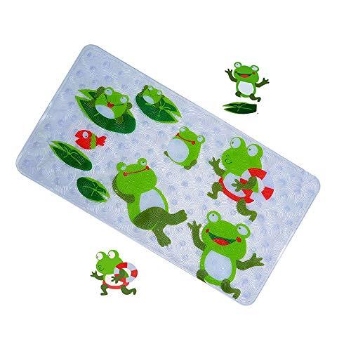 tte für Kinder und Babies Wanneneinlage Niedlich Anti-Rutsch Badematte mit Saugnäpfen Antibakterielles umweltfreundlich PVC,70 x 40 cm (Frosch) ()
