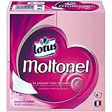 LOTUS Moltonel Plat Set de 8 Paquets de Papier Toilette en Feuille Blanc - Lot de 3