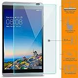Saxonia zanasta 2 Stück Bildschirmschutz Glas kompatibel mit Huawei MediaPad M1 Folie aus Gehärtetem Glass (9H Härtegrad) | Klar Transparent