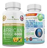 AFRICAN MANGO 6000 Leptin Fat Burner + COLON CLEANSE For Super FAST Weight Loss ! Super Strong 6000mg Diet Slimming Pill Also Known as Irvingia Gabonensis This NEW Herbal Supplement Regulates LEPTIN - a Natural HORMONE that Controls your Body FAT ! Works For MEN and WOMEN ! Specially Formulated For To Target That Hard To Shift BODY FAT ! 60 x AFRICAN MANGO Strong Diet Tablets + 60 x COLON CLEANSE Slimming Pills Lose Weight and Slim Fast ! 120 x Strong Slim Pill Total !