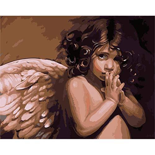 DAMENGXIANG DIY Hand Gemalt Digitale Öl Gemälde Engel Baby Moderne Abstrakte Kunst Bilder Für Wohnzimmer Home Decor