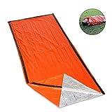 RUNACC Emergency Schlafsack Notfall Bivvy Erste Hilfe Schlafsack für Outdoor Camping und Wandern, Orange