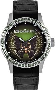 Jacques Lemans Damen-Armbanduhr The Expendables 2 Analog Quarz Leder E-225