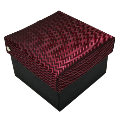 ohne Markenname Krawattenbox in rot schwarz gestreift
