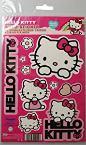 Kaufmann Neuheiten HK-KFZ-101 Lot d'autocollants Hello Kitty pour voiture