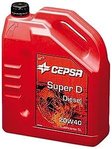 CEPSA 517633017 Super D 20W40 Huile Minérale pour Moteurs de Véhicules de Tourisme, 5 L