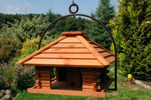 XXL Vogelhaus Nr20 Dach mit Holzlamellen und Bügel