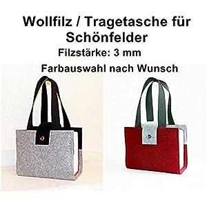 Wollfilz-Tasche/Schutzhülle f. Schönfelder (Deutsche Gesetze) / Wunschfarbe