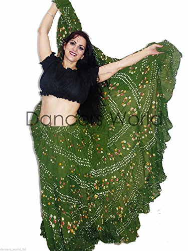 Dancers mondo 2 cotone 22,9 m Pois gonna danza del ventre tribale Gypsy & Top, Heena Green