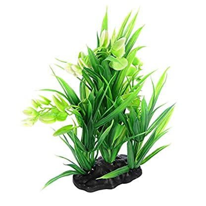Oshide Artificial Flower Water Plants Aquarium Fish Tank Long Leaf Plastic Decoration Ornament 5