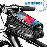 51uNFpuFSkL. SS150 Faireach Borsa Bici Telaio con Supporto per Telefono, Custodia per Cellulare Impermeabile con per Il Ciclo con Finestra…