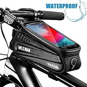 51uNFpuFSkL. SS300 Faireach Borsa Bici Telaio con Supporto per Telefono, Custodia per Cellulare Impermeabile con per Il Ciclo con Finestra…