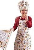 Cooksmart Kids Gingerbread 3-Piece Apron, Hat and Tea Towel Set