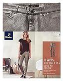 TCM Tchibo 5 Pocket Jeans , Grau mit silberner Glanzbeschichtung (36)