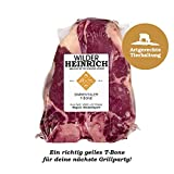 WILDER HEINRICH - Simmentaler Rinder T-Bone Steak (750g)(TK) | Fleisch aus artgerechter Haltung | Rind aus der Region: Niederbayern | Simmentaler Rind