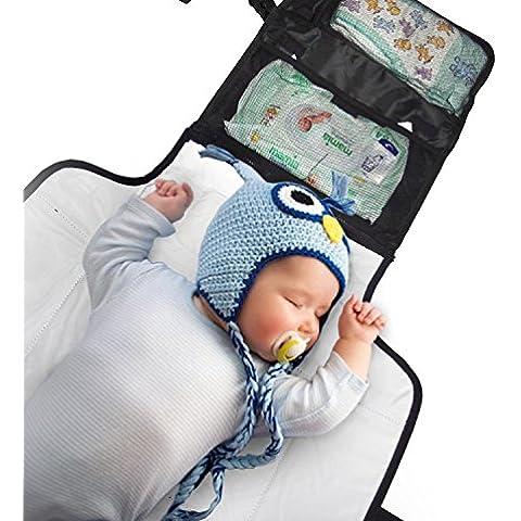 Cambiador de viaje y bolsa. Bebé Pañales estación Que Se pliega Pequeño y es de fácil de transportar