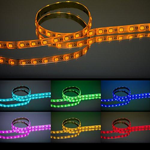 RGBW-LED-Streifen für farbintensive Beleuchtung / 5 Meter - 24 V - IP 54 -