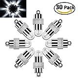 Vanble 30pz Impermeabile LED Palloncini luci per Lanterne di Carta Palloncini Decorazione (30) (bianca)