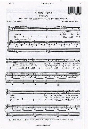 Adolphe Adam: O Holy Night (Soprano Solo). For Voce di Soprano, Accompagnamento di Organo
