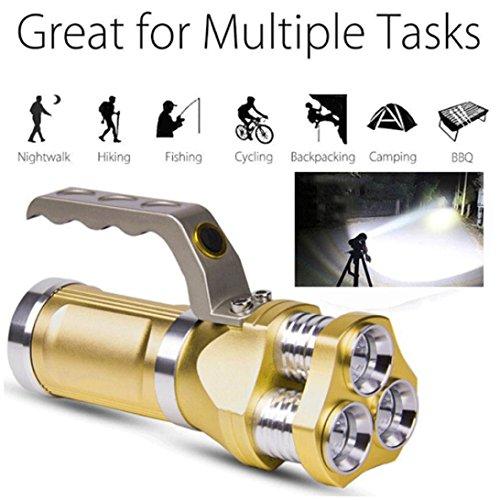 Taschenlampe - LED Taschenlampen, Superhelle 3000 Lumen Wasserdicht Taschenlampe, 3 Modis Einstellba für Haushalt, Camping, Angeln, Garage, Notfall, Stromausfall,Outdoor Sports
