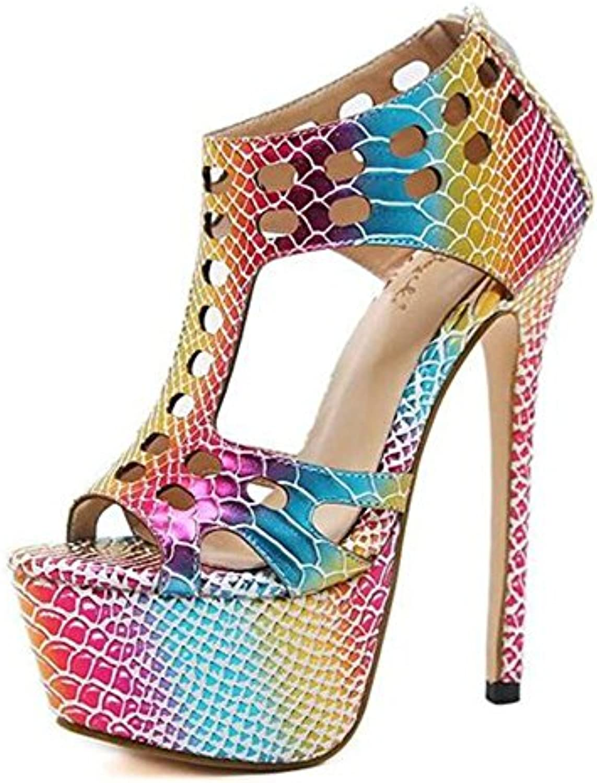 Zapatos de Mujer de Verano Sandalias de Suela Liviana Kitten Heel Pointed Toe Hebilla de Vestido de Negro -