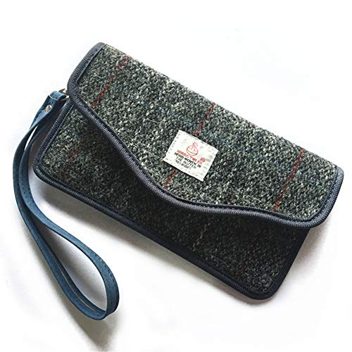 Soldmore7 Keyless Autoschlüssel Signal Blocker Pouch, Faraday Pouch für Autoschlüssel Harris Tweed Oberfläche RFID Signal Blocking Faraday Bag Cage(Grey) Tweed-blöcke