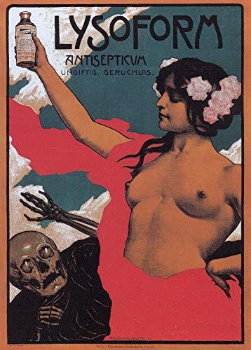 Vintage pharmazeutische Lysoform Antiseptische mit ungiftigen Geruch, Deutschland C1902250gsm, Hochglanz, vervielfältigtes Poster