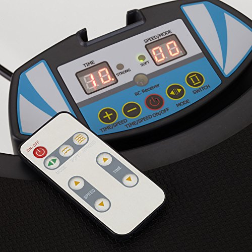 skandika Home Vibration Plate 500, Profi Vibrationsgerät, inklusive Trainingsbänder mit großer rutschsicheren Trainingsfläche, Fernbedienung und kraftvoller 3D-Vibration - 4