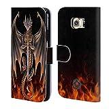 Head Case Designs Officiel Anne Stokes Guerrier Dragons 4 Coque en Cuir à Portefeuille Compatible avec Samsung Galaxy S6