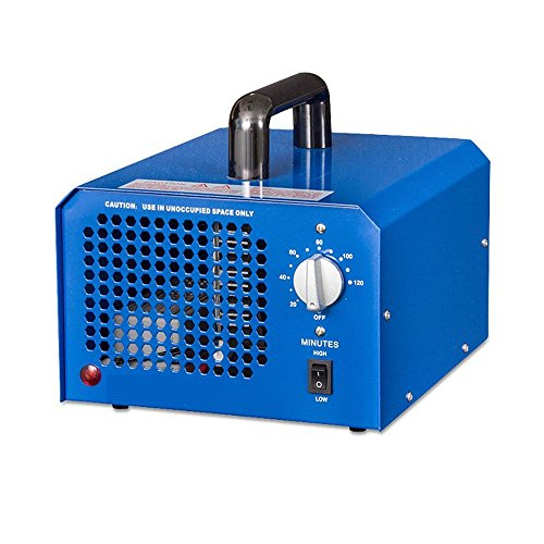 Profi Ozongenerator Ozonisator 3500mg/h- 7000mg/h einstellbar Timer Ozon Generator perfekt Luftreiniger für Ihr Auto Kücke Desinfektion Formaldehyd Reduzierung und geruchtilgend in Badezimmer usw (Blau)