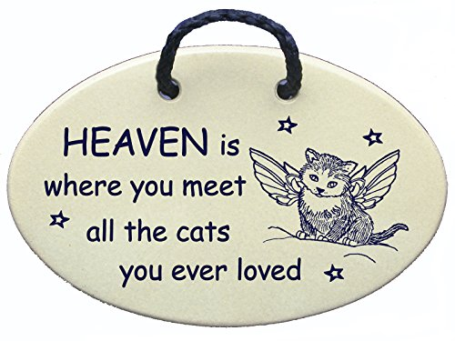 Memorial Marker (Mountain Meadows Pottery Cat Memorial, Himmel ist wo Sie erfüllen die Katzen You Ever Loved. Keramik Wand Vorlagen handgefertigt in den USA für über 30 Jahren. Preis Spruch)