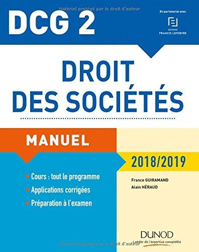 DCG 2 - Droit des sociétés 2018/2019 - Manuel