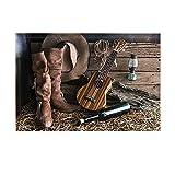 Stuoie del bagno occidentale di KOTOM, stivali da cowboy americani della chitarra di musica country di stile country del Texas Cappello Cultura popolare antiscivolo Tappetino da bagno Tappeto da bagno Tappetino da bagno Tappeto da doccia lavabile Tappeto per bagno 40x60cm