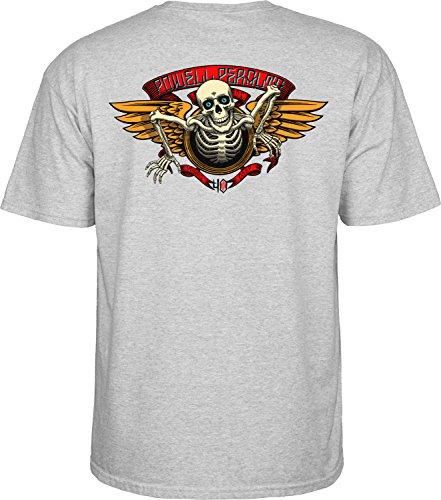 Herren T-Shirt Powell Peralta 40Th Anniversary Winged Ripper T-Shirt Grey