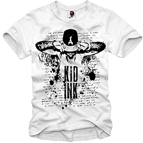 Kid Cap Ink (E1SYNDICATE T-SHIRT KID INK TATTOO TYGA WIZ KHALIFA SUPREME BULLS CAP S-XL)