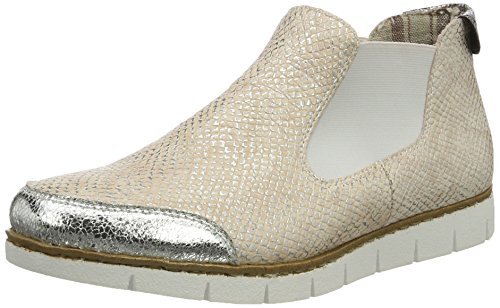 Rieker Damen M1394 Chelsea Boots, Mehrfarbig (Silber/Rose-Silver/Altgold/90), 41 EU