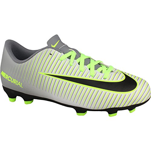 Nike Jr Mercurial Vortex Iii Fg, Chaussures de Football Mixte Adulte Plateado (Pure Platinum / Black-Ghost Green)