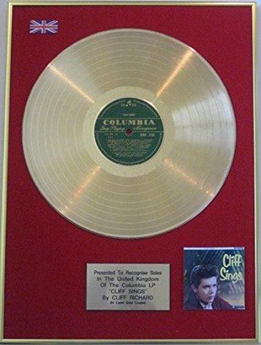 UK Music Awards Cliff Richard-LP Festplatte-24Karat de Falaise singt -