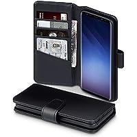 Coque Samsung S9, Terrapin Étui Housse en Cuir Véritable avec La Fonction Stand pour Samsung Galaxy S9 Case - Noir