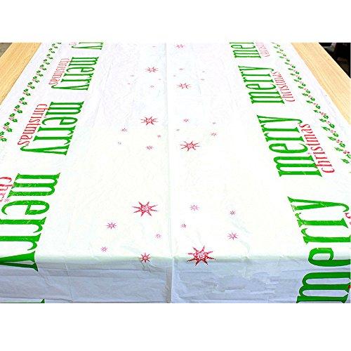 LoveLeiter Weihnachten Wegwerf Frohe Rechteckig Gedruckt PVC Cartoon Tischdecke Antibakteriell Restaurant Dekoration Rutschfeste Matte 110 * 180Cm Dinner Party Decor KüChe Platzdeckchen(A)