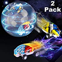 2 Pack Mini Stunt Car Toys with Colorful Led Lights 360° Rotating USB Recharger 5 Mode High Speed Fidget Spinner Car Vehicle Bonus Ball Glow in the Dark for Boys Girls Adult Outdoors Halloween Toys - Compare prices on radiocontrollers.eu
