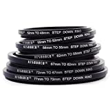 XCSOURCE® 77 72 67 62 58 55 52 49 mm 7pcs metal Step Down Rings Lens Adapter Filter Set for Canon Nikon DC69