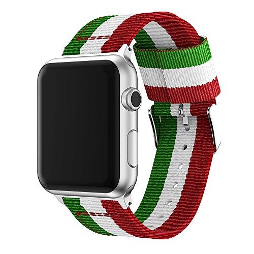 XIHAMA für Apple Watch Nylon Armband Serie 4 - 42mm und 44mm,Fitness armband Zubehör für iWatch Series 3 / 2 / 1